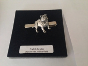 D14 Bulldog English Pewter emblem on a Tie Clip (slide) Handmade in sheffield comes with PrideInDetails gift box