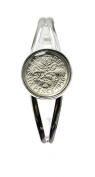 Year 1966 Lucky Sixpence Bracelet Bangle