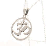 Sterling Silver Om Mystic Symbol Pendant and 41cm /46cm Chain