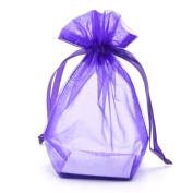 Medium Organza Bag - Violet