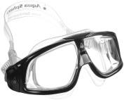 Aqua Sphere Seal 2.0 Swim Mask Goggle Clear Lens Black Grey Frame Regular Adult