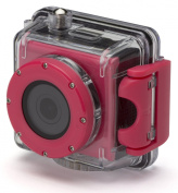 Kitvision Splash Waterproof Full HD 1080p Action Camera with Mounting Accessories and Waterproof Diving Case - Pink