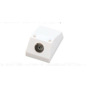 Single Coaxial Outlet TV Aerial Plug Socket Wall Mount
