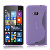 Nokia Lumia 640 (13cm ) - Premium TPU Hydro Grip S Line Wave Pattern Silicone Gel Skin Case Cover pouch + Free Screen Protector & Cleaning Cloth