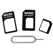 Rheme 4 in 1 Nano SIM Card Adapter Converter to Micro & Standard SIM Card for iPhone 6 , iphone 5 and 4
