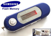EvoDigitals 8GB Blue MP3 WMA Player for Samsung memory) USB With FM Tuner, Voice Recorder + More