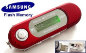 EvoDigitals 8GB Red MP3 WMA Player for for for for for for for for for for Samsung memory) USB With FM Tuner, Voice Recorder + More