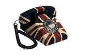 GPO Vintage British Union Jack Art Deco Rotary Push Button Telephone