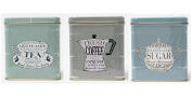 Martin Wiscombe The Specialist Tea Coffee and Sugar Storage Tins