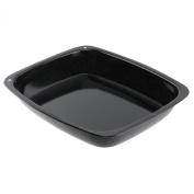 Spares2go Small Vitreous Enamel Roasting Tin Oven Baking Tray