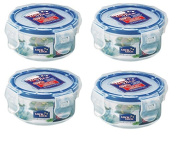 Lock & Lock 100ml Extra Small Round Storage Containers, Set of 4