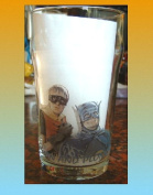 ONLY FOOLS AND HORSES PINT BEER GLASS, BATMAN AND ROBIN