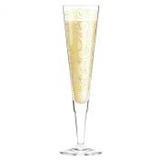 """RITZENHOFF 0.2 Litre """"Liana Cavallaro"""" Champus Champagne Glass with Napkin"""