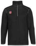New Grey Nicolls Storm Thermo Fleece Long Sleeve Cricket Sportswear - Black