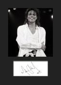 Michael Jackson #1 Signed Mounted Photo A5 Print