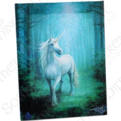 Forest Unicorn - A Unicorn in Glade - Fantastic Design by Artist Anne Stokes - Canvas Picture on Frame Wall Plaque / Wall Art