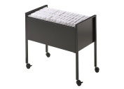 Durable ECO Suspension File Trolley for 80 A4 - Black Grey/Silver