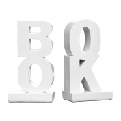 Premier Housewares Book Bookends - White Gloss