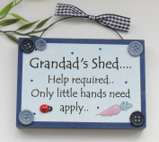 Grandad's Shed Wooden Plaque Gift