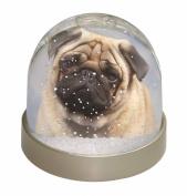 Fawn Pug Dog Snow Dome Globe Waterball Gift