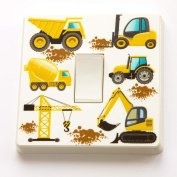 Diggers and Tractors - Kids Room Light Switch Vinyl Sticker