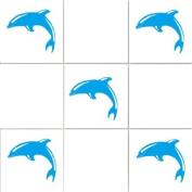'Dolphins' Bathroom Tile Sticker Set x36 stickers