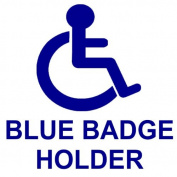 Blue Badge Holder Disabled Car Sticker -Disability Wheelchair- Mobility Self Adhesive Sign
