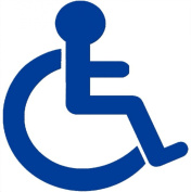 Disabled Logo Car Sticker -Disability Wheelchair- Mobility Self Adhesive Vinyl Sign