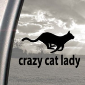 Crazy Cat Lady Black Decal Car Truck Bumper Window Sticker