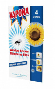 Vapona Ant-Fly Window Sticker Sunflower Pack of 4