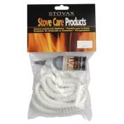 Stovax Stove Rope 6mm White 2 Metres & Glue Adhesive