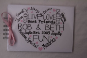 PERSONALISED BEST FRIENDS MEMORY BOOK TYPOGRAPHY. in the UK
