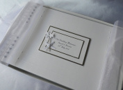 Wedding Guest Book,Album,Memory Book,Personalised,A4 With Flowers And Pearls