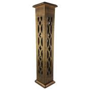 Golden Galifrey Incense Tower / Wooden Cone & Stick Burner / Carved Wood Holder