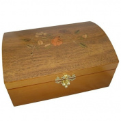 """Lorna"" Large Chest Style Wooden Jewellery Box by Mele & Co."