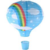 Rainbow Hot Air Balloon Ceiling Light (Paper Lantern Lamp Shade) - BLUE