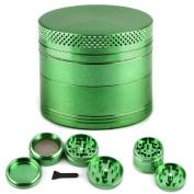 CellDeal Herb Grinder Mill Metal Aluminium Teeth Compact 40mm 4 Part Green