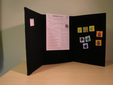 Portable display board or memo board tri fold a3 for for Office display board