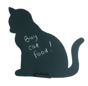 Sass & Belle Cat Pet Coated Iron Wire Chalk Board, Black