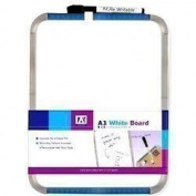 Grey A4 Magnetic Dry Wipe White Note Board Kitchen Fridge Memo + Pen