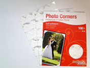 White Colour Photo Corners Self Adhesive Sticky Acid Free Album Scrapbook Frame