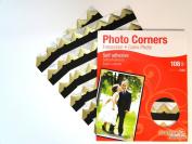 Gold Colour Photo Corners Self Adhesive Sticky Acid Free Album Scrapbook Frame