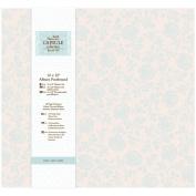 Papermania 30cm x 30cm Capsule Postbound Album with 10 Page Protectors, Eau de Nil Blue