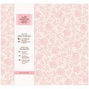 Papermania 30cm x 30cm Capsule Postbound Album with 10-Page Protectors, Wild Rose