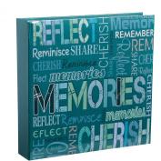 Arpan Teal Blue Memo Slip In Memories Photo Album 10 x 15 cm For 200 Photos
