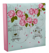 Arpan 10 x 15 cm Large Vintage Rose Cage Shabby Chic Style Ring Binder Photo Album For 500 Photo's