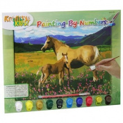 Paint By Numbers With 10 Paints ~ Horses