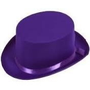 Purple Top Hat - Willy Wonka - Charlie and the Chocolate Factory Style Fancy Dress Item