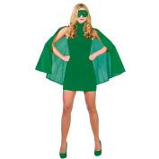 Details about SUPERHERO CAPE LADIES FANCY DRESS COSTUME HEROINE SUPER WOMAN OUTFIT + MASK