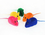 Pet Cat Toy Cute Colourful Mouse Toy for Cats Body 6cm Totol 12cm With Squeaker inside